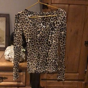 Express Leopard Transparent Top